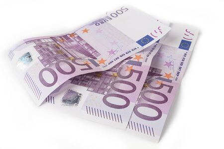 500 euros bill on a white background