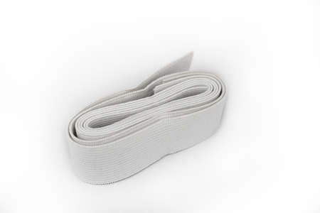 Elastic Textile rubber for clothes on a white
