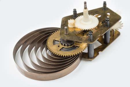 Clock machine on a white background