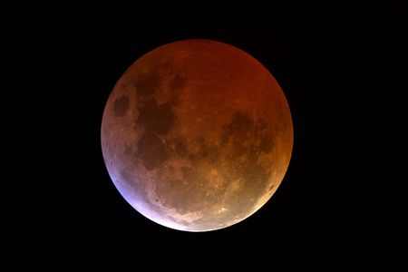 Lunar Eclipse, the shadow of Earth is over Standard-Bild