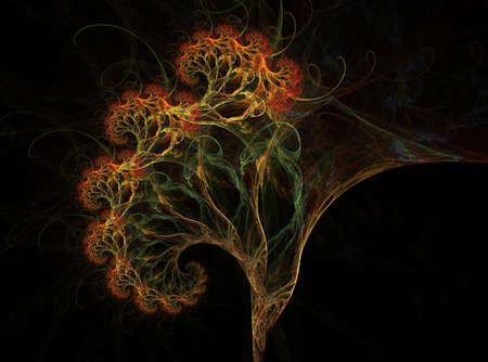 The fractal tree, this is a complex fractal image photo