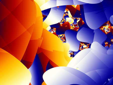 vivacity: Fractal rooms in vivacity colors. Hight resolution. Stock Photo