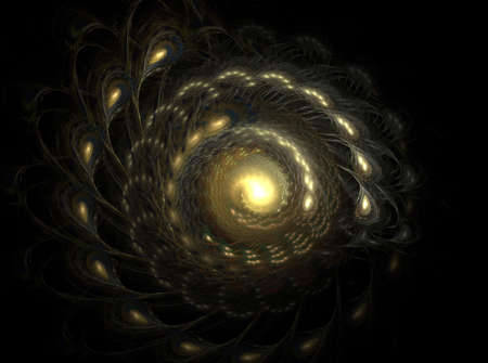 Spiral fractal galaxy is a complex fractal image
