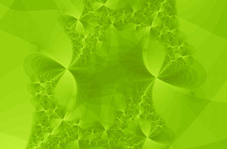 imaginary line: Delicates green lines is a complex fractal image Stock Photo