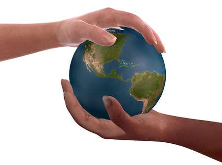 Global brotherhood  is a suggestive computer image. This is simbol of global brotherhood Stock Photo - 883667