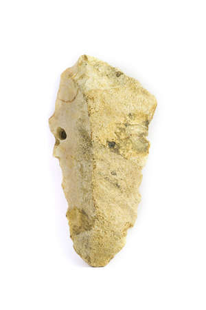 homo: A prehistoric tool of 400000 years old. Homo Herectus. Stock Photo