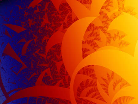 imaginary line: Warm tone is a complex fractal image