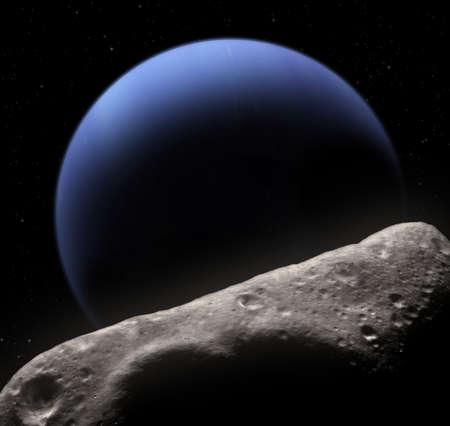 Fonteinkruid is een dichtstbijzijnde Neptunus de kleine maan