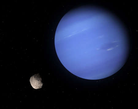 Proteus is a Neptune's small moon. Very high resolution