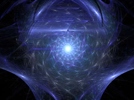 Infinity light is a complex fractal image