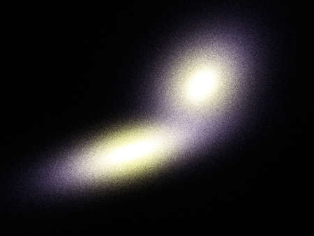 Elliptical collision galaxies theoretical reconstruction. This type galaxies is a very giant stellar system. photo