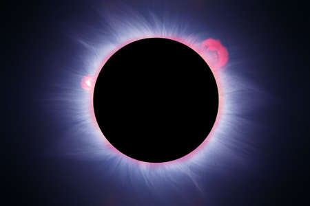 coronal: Reconstruction very realistic of a solar eclipse