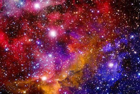 Very realistic stellar field with nebulae