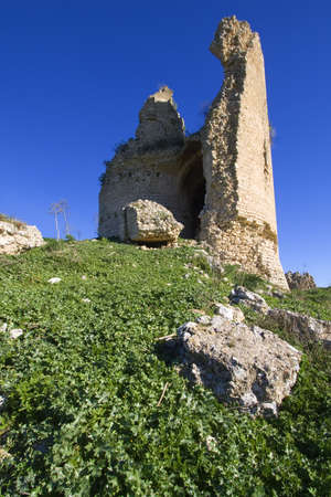 tremor: Mongialino Castle very old medieval castle in Mineo country - Catania - Sicily - Italy