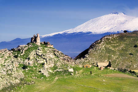 Mongialino Castle very old medieval castle in Mineo country - Catania - Sicily - Italy