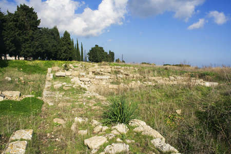 siracuse: Megara Hyblea are ruins of a very old greek city in the oriental Sicily - Melilli - Siracuse - Italy Stock Photo