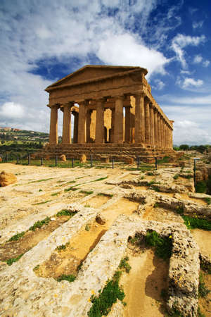 Extraordinary greek temple in the Valley of the Temples in Agrigento - Sicily Reklamní fotografie