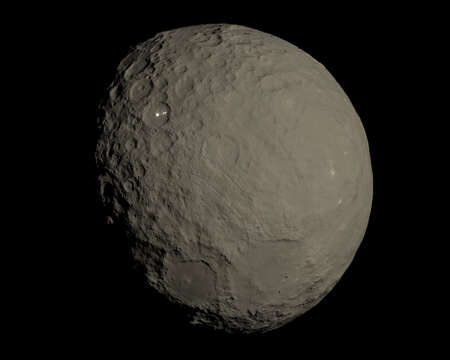 This image represent Ceres dwarf planet in a very high resolution 3d rendering Stock Photo