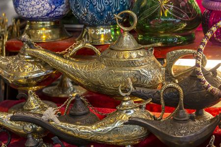 Old style oil lamp. Aladdin's lamp