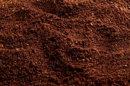 The texture of the ground coffee. natural groung coffee. 写真素材