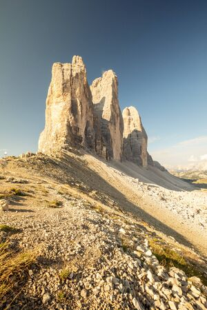 Dolomites Alps, Three Merlons, Drei Zinnen, South Tyrol, Italy in summer