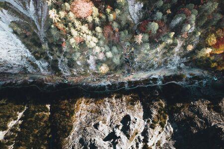 Autumn River in beautiful Valley Oetschergraben Austria, Lower Austria, Oetscher Mariazell, Oetscher valley Stockfoto