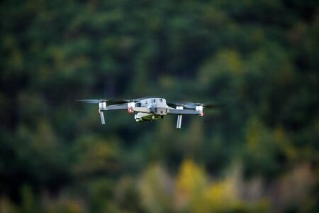 Drone is flying in the nature with space in background - dji mavic pro 2 Stockfoto