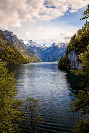 Konigssee Idyllic alpine lake in Berchtesgaden view from the famous malerwinkel Stockfoto