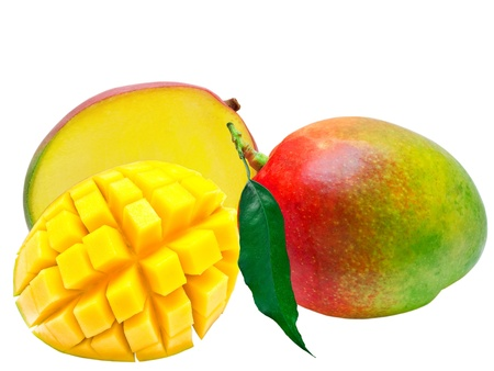 Mango isolated on white background Stock Photo - 9526994