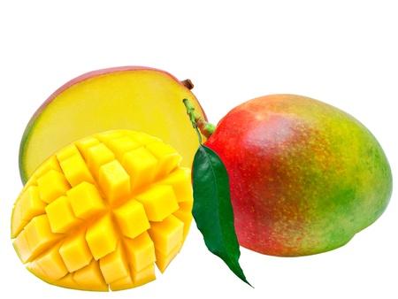 Mango isolated on white background Stock Photo - 9526994
