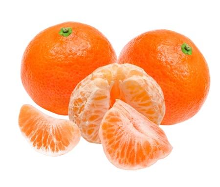 Mandarin isolated on white background Stock Photo - 10491883
