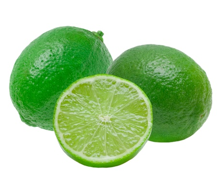 limes: lime isolated on white background