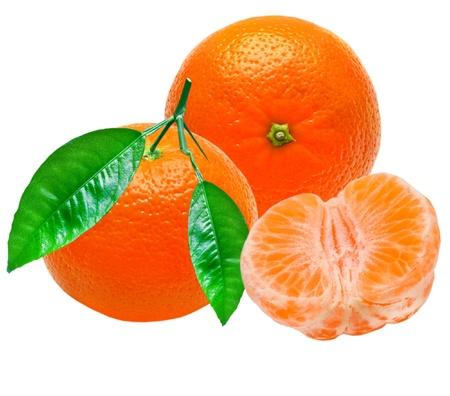 Mandarin isolated on white background Stock Photo - 10718967
