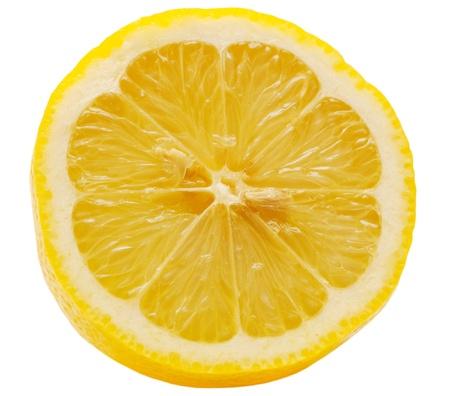 slices of lemon: Lemon isolated on white background Stock Photo