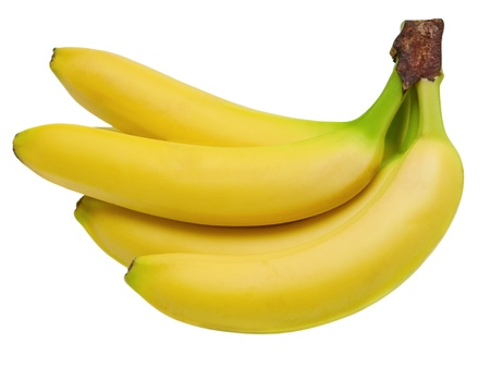 banane: bananes isol� sur fond blanc