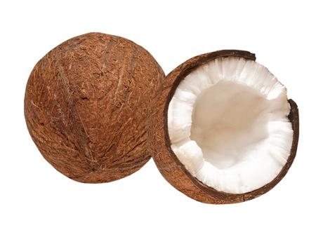 coconut: Coco aislada sobre fondo blanco