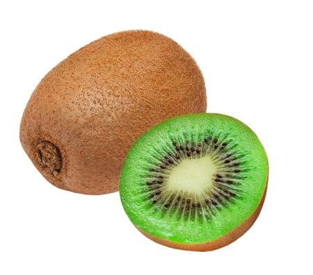 kiwi fruit: kiwi isolated on white background Stock Photo