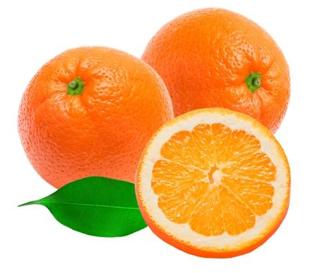 Orange isoliert auf weißem Hintergrund