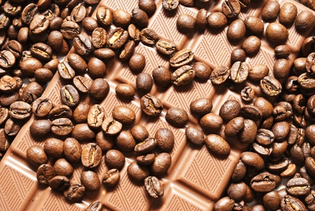 chocolate and coffee beans photo
