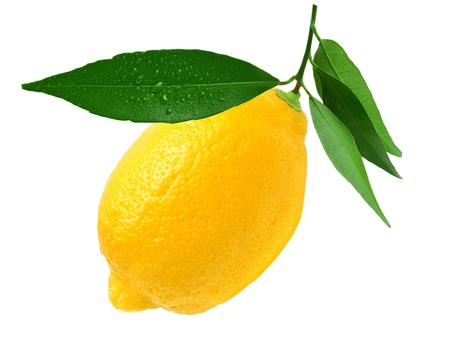 Lemon isolated on white background photo