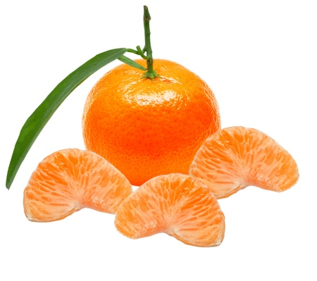 Mandarin isolated on white background Stock Photo - 11834207
