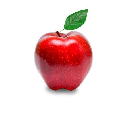 mela rossa: mela rossa isolato su sfondo bianco
