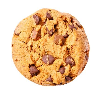 baking cookies: chip di biscotti al cioccolato isolato su sfondo bianco Archivio Fotografico
