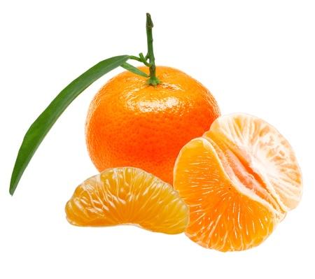 Mandarin isolated on white background