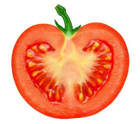白の背景に分離されたトマト 写真素材