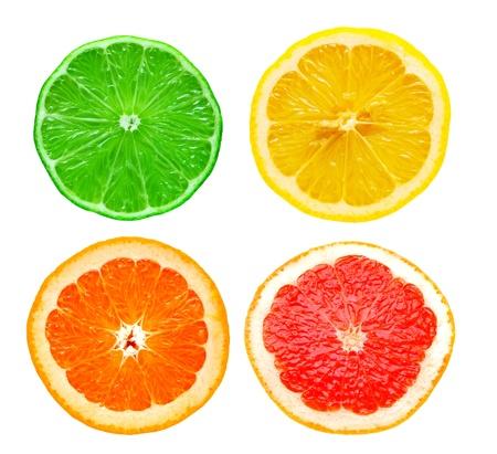 orange slice: citrus plakjes Stockfoto