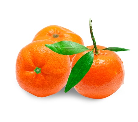 Mandarin isolated on white background Stock Photo - 12001149