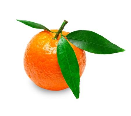 Mandarin isolated on white background Stock Photo - 12265235