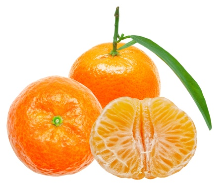 Mandarin isolated on white background Stock Photo - 12265377