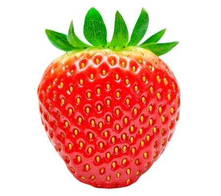 fraise: fraises isol� sur fond blanc Banque d'images